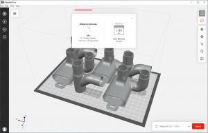 MakerBot Print Software estimate
